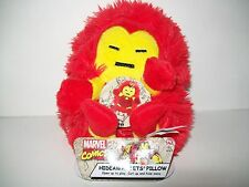 "Marvel Comics Iron Man Hideaway Pets Pillow Mini Travel 5"" Stuffed Plush New"