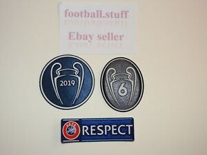Liverpool-2019-UEFA-Champions-League-Sleeve-Patches-Badges-NEW-FIRMINO-SALAH