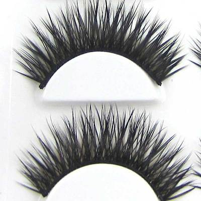 BXM37 6 Pairs Natural Long Thick Black +BROWN False Eyelashes Party eye lashes