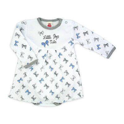Baby Body mit Röckchen Kleidchen Babybody Gr 56 62 68 74 80 86 Baumwolle NEU