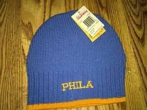 Stall-amp-Dean-Blue-Phila-One-Size-Wool-Beanie-Stitched-Logo-New-with-tags