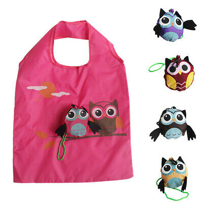 1PC Portable Eco-friendly Animal Tote Folding Owl Shopping Bag Gift Travel Bag