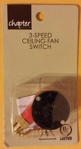 Chapter Mainstays 3 Speed 4 Wire Ceiling Fan Switch New W
