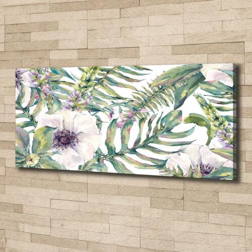 Leinwandbild Kunst-Druck 125x50 Bilder Blumen /& Pflanzen Farne Blumen