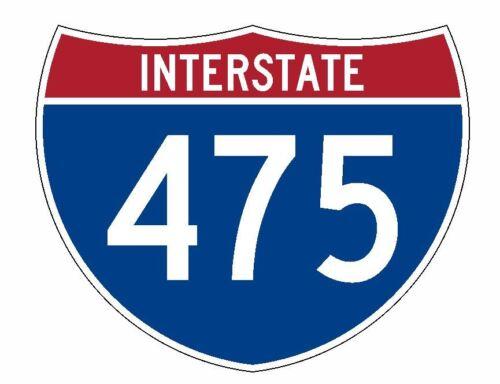 Interstate 475 Sticker R2072 Highway Sign Road Sign