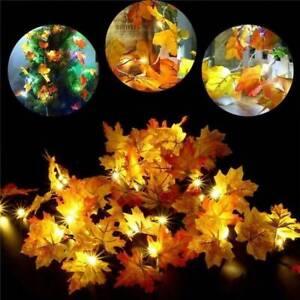 LED-Maple-Leaves-Fairy-Light-Autumn-String-Lights-Fall-Wedding-Xmas-Indoor-Decor