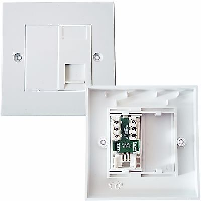 RJ11 Phone Socket Wall Face Plate Outlet - BT Router/Modem Telephone Extension
