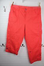 Lane Bryant 26 Coral Pink Cargo Pants Convertible Roll Capri Pant Elastic Waist