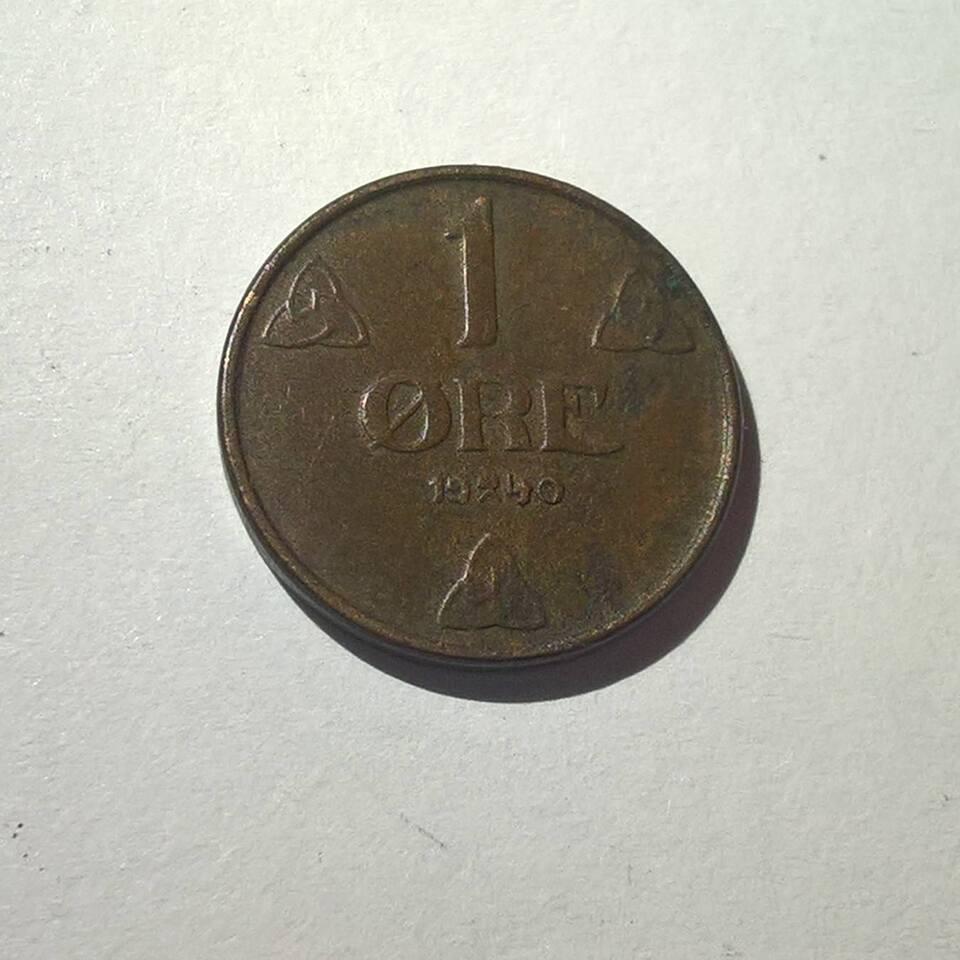 Andet land, mønter, Norsk 1 øre