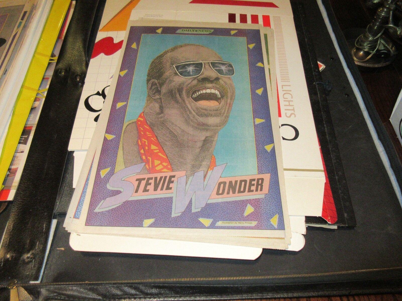 Stevie Wonder , New York Sunday News , Comic Poster ,19