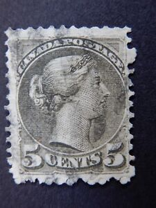 """#38 used NG   5c slate green """"Small Queen Victoria Issue"""", issued 1876  CV=$175."""