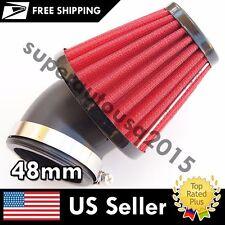 Red Honda Yamaha Kawasaki Suzuki 45 degree 48mm Diameter Spike Air Filter ATV