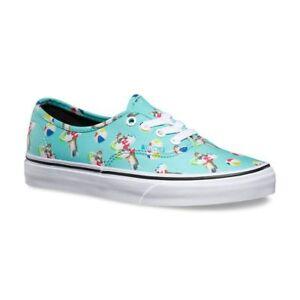 e9da60e45405c4 VANS Authentic (Pool Vibes) Aqua Sea True White Skate Shoes WOMEN S ...
