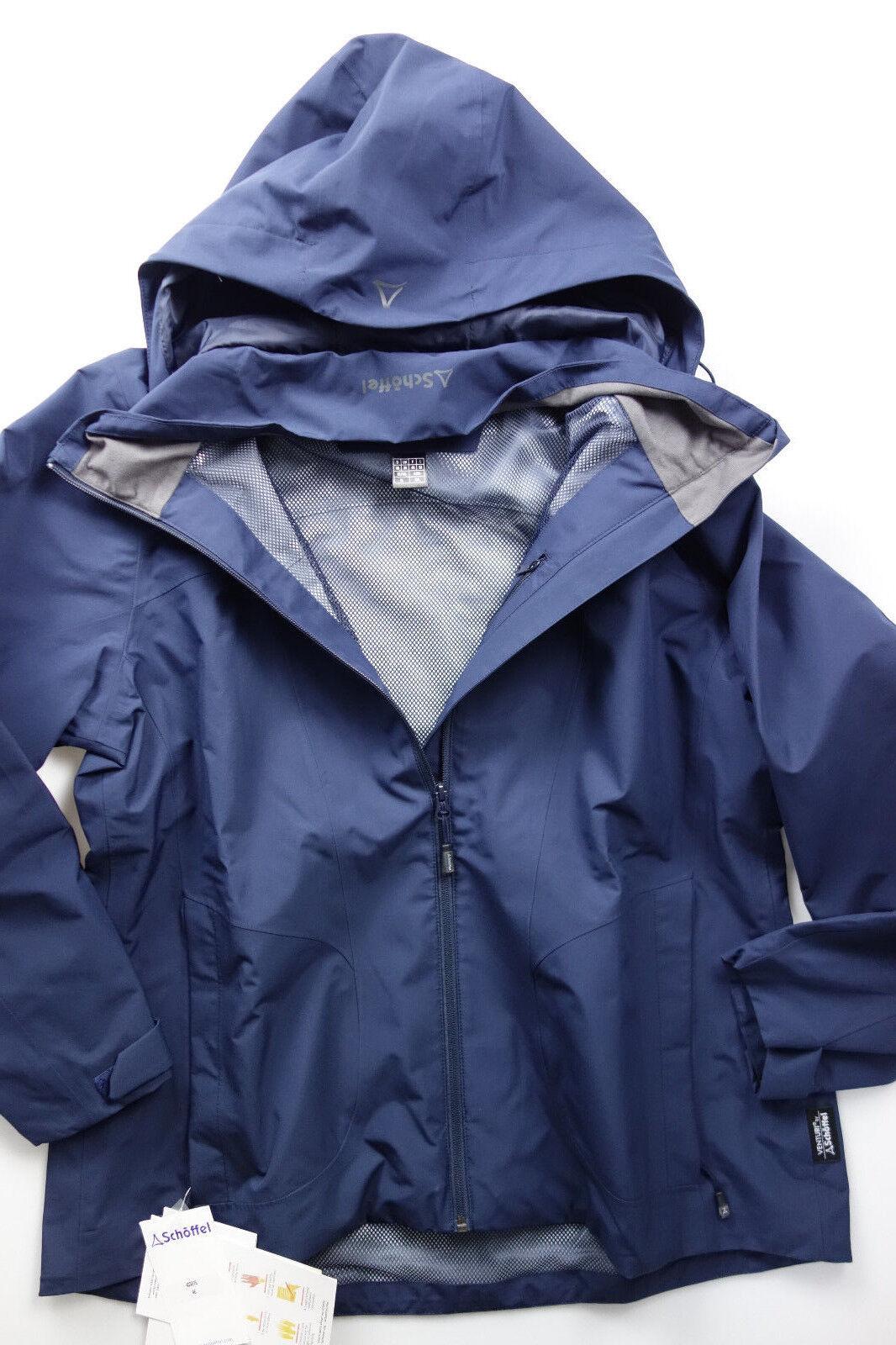 Schöffel Funktions Mantel Jacke Parka Gr. 46 Blau mit Logo (754) NEU