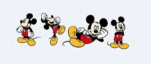 Die-Cuts-Mickey-Mouse-Set-of-4-Pieces-7-034-H-Scrapbooking-Party-amp-Card-Decoration