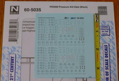 Microscale Decal N  #60-5035 PD3000 Pressure Aid Data (Black)