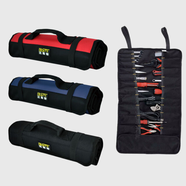 GJSN19C Reel Rolling Tool Bag For Maintenance Canvas Cloth Red Black NEW
