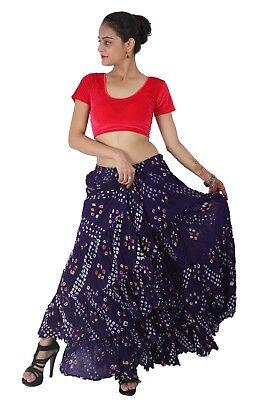 Black Skirt 25 Yard 4 Tier Jaipur Gypsy Cotton  Belly Dance  Tie /& Dye Polka Dot