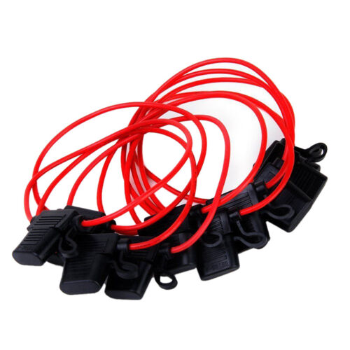 10Pcs 40A In-line Blade Small Fuse Holder for Car Boat Truck Auto 16 AWG ZJHN