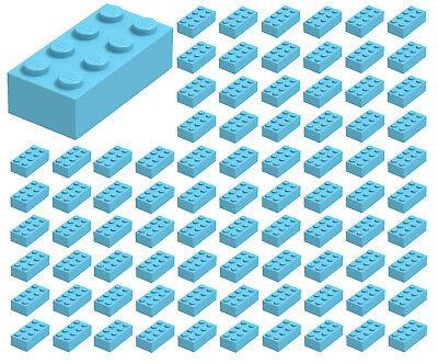 3001 Lego 10x Medium Azure Brick 2x4 NEW!!!