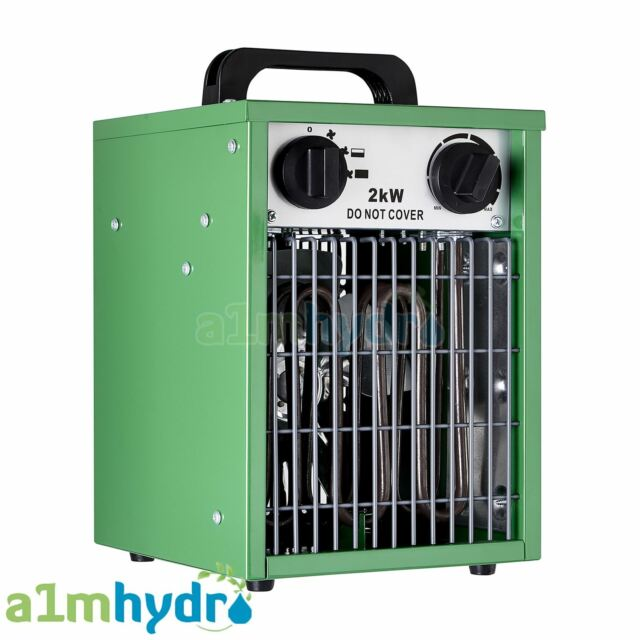 Hydrogarden 2KW Electric Greenhouse Fan Heater Built In Thermostat Hydroponics