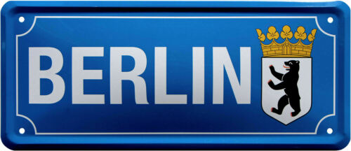 Blechschild Berlin Stadt 28 x 12 cm Metallschild 2095
