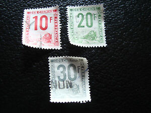 FRANCE-timbre-yvert-et-tellier-colis-postaux-n-10-a-12-obl-A14-stamp-frenchA