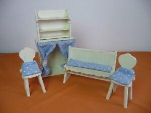 Alte Küchenmöbel für die Puppenstube - Holz - 5-teilig
