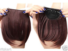 Pretty Girls Clip In Front Hair Bang Fringe Hair Extension Straight brown