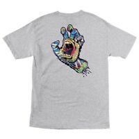 Santa Cruz Screaming Tie Dye Hand Skateboard T Shirt Ash Large on sale