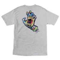 Santa Cruz Screaming Tie Dye Hand Skateboard T Shirt Ash Xl on sale