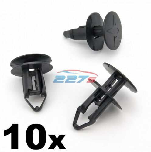 10x 8 mm PUSH FIT Plastique Clips-RENAULT KADJAR Grille /& Passage De Roue Doublure Clips