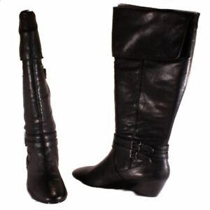 Alfani-Carrie-Womens-Black-Knee-High-Low-Wedge-Boots