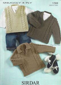 Sirdar 4258 Denim Child Double Knitting Pullover Sweater Pattern