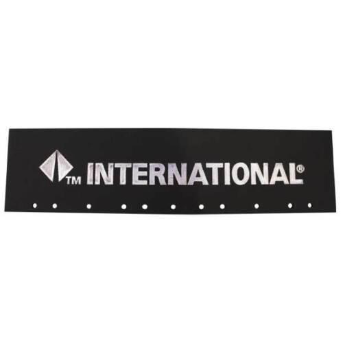 "International Trucks Black /& Silver 6/"" x 24/"" Semi Truck Quarter Fender Flaps-Set"
