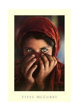 steve mccurry afghan girl 90x60 cm Quadro su pannello in legno MDF