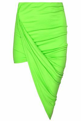 Womens Wrap Asymmetric Drape Ruched Maxi Party Side Split Slit Midi Mini Skirt