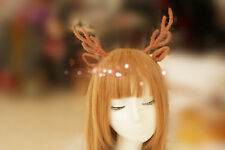 Long Antlers Headband, Wool knit Wrapped Deer Headband,forest themed coordinate