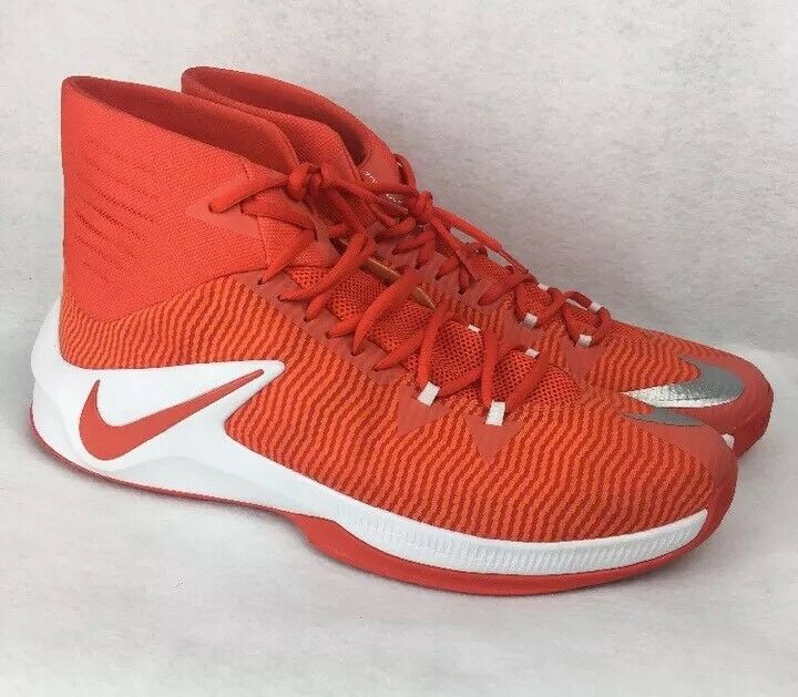Nike Zoom Clear Out TB Men's Basketball shoes Size 17 844372-888 orange White DD