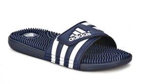 free shipping 246df 88100 Chargement de l image en cours Adidas-Adissage-Slides-078261-Chaussures -Hommes-Sandales-Chaussons-