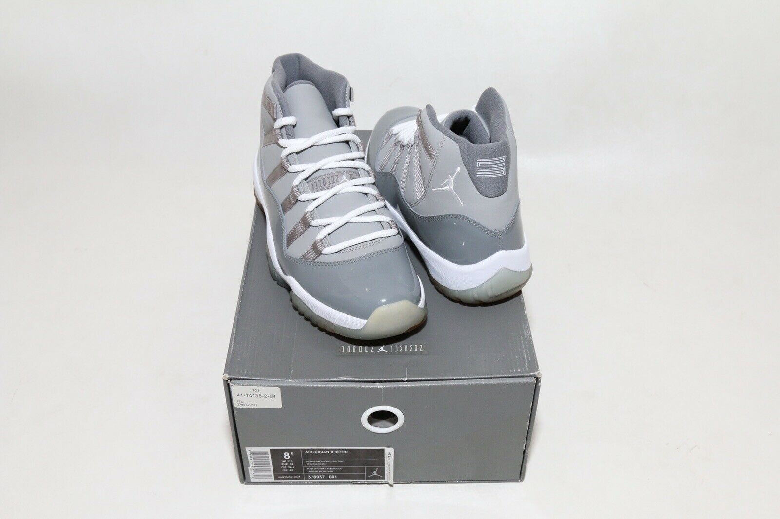 Air Jordan 11 XI Retro Cool Grey 2010 Size 8.5 DS BRAND NEW OG