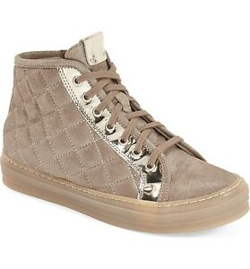 AGL-NIB-High-Dunk-Quilted-Leather-Fashion-Sneaker-Size-39-5-9-5-B-Retail-425