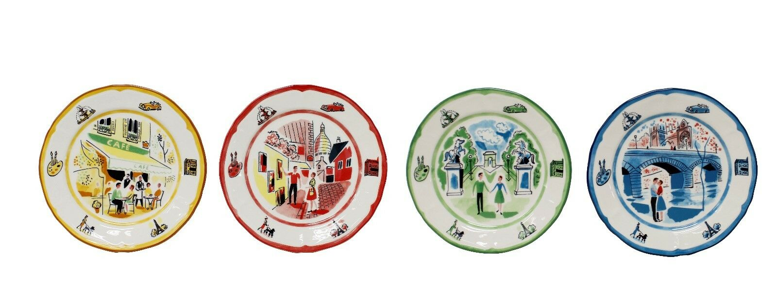 An American in Paris 12 pièces Dinnerware Set par Euro ceramica
