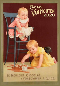 Calendario Marbaro 2020.Details About 2020 Wall Calendar 12 Pages A4 Cacao Chocolate Ads Vintage Advert Poster M494