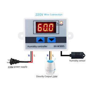 Numérique Humidité Contrôle Contrôleur Switch Hygrostat Hygromètre Capteur 12V