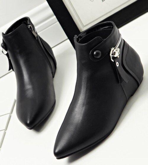 offrendo il 100% Stivali stivaletti bassi scarpe basso 3.5 cm nero nero nero eleganti simil pelle 9281  vendita all'ingrosso