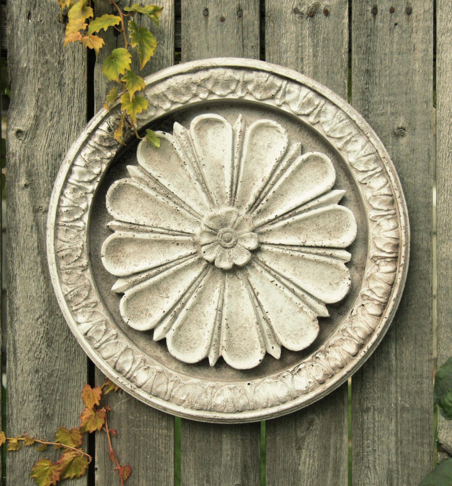 Abbott Medallion Garden Wall Art Decor Sculpture Plaque by Orlandi FS7631