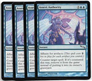 4x Commander/'s Authority x4 MTG