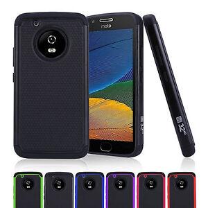 32nd-Doble-Capa-Funda-a-prueba-de-choques-para-Motorola-Moto-G5-amp-Moto-G5-Plus
