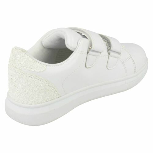 SPOT ON H2R418 CASUAL RIPTAPE STRAP PUMPS SKATE SHOES ROUND TOE GIRLS TRAINERS
